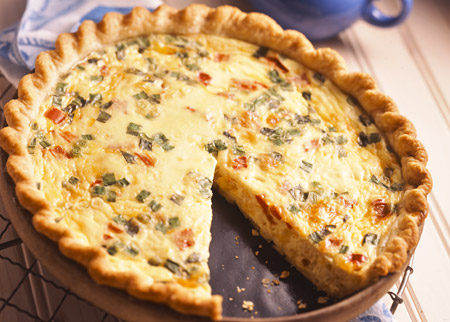New England chicken and corn quiche