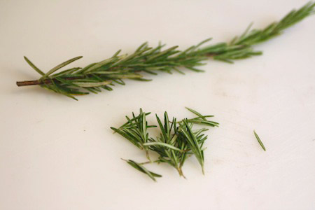 rosemary, stem, chopped