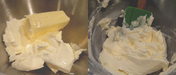 Cream Butter and Cream Cheese