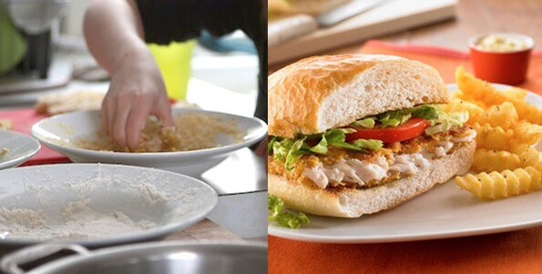 Fast food vs homemade fish sandwich land o lakes for Fish sandwich fast food