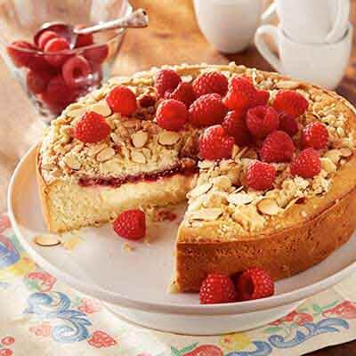 Lemon Raspberry Double Cream Coffee Cake