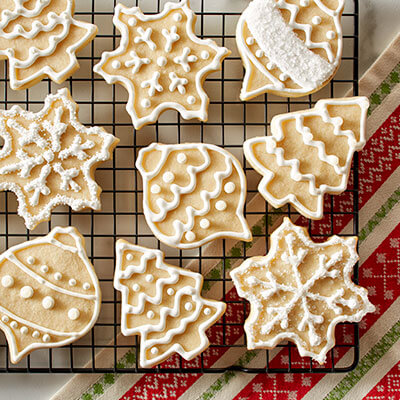 Buttercream Frosted Holiday Cookies
